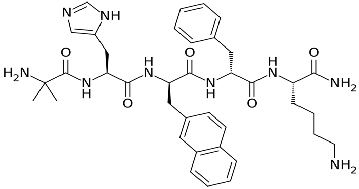 Chemical structure of Ipamorelin peptide
